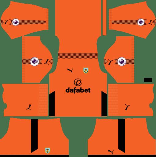 Burnley F.C. Goalkeeper Home Kits DLS 2018