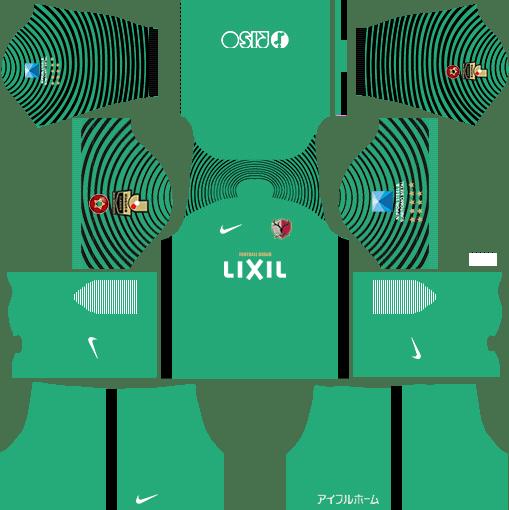 Kashima Antlers Goalkeeper Away Kits DLS 2018