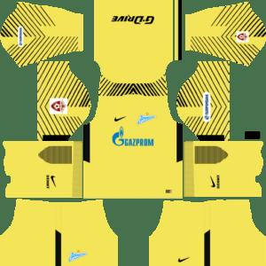 Zenit St Petersburg Goalkeeper Third Kits DLS 2018