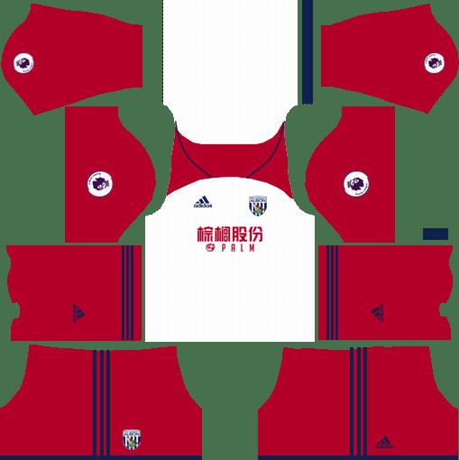 West Bromwich Albion F.C. Away Kits DLS 2018