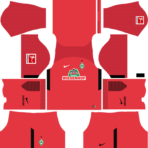 SV Werder Bremen Goalkeeper Away Kits DLS 2018