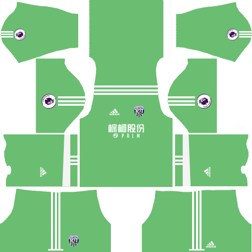 West Bromwich Albion F.C. Goalkeeper Home Kits DLS 2018