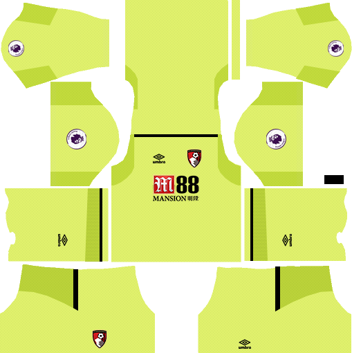 A.F.C. Bournemouth Goalkeeper Home Kits DLS 2018