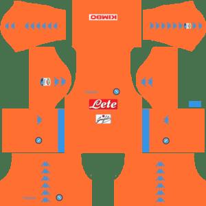 Napoli Goalkeeper Home Kits DLS 2018