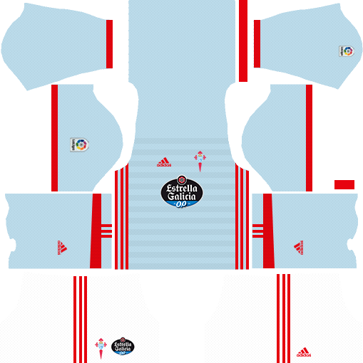 Celta Vigo Home Kits DLS 2018