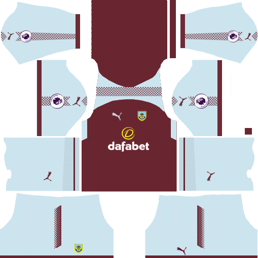 Burnley F.C. Home Kits DLS 2018