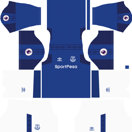 Everton Home Kit DLS 2018