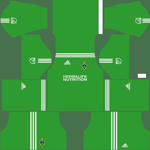 LA Galaxy Goalkeeper Away Kits DLS 2018