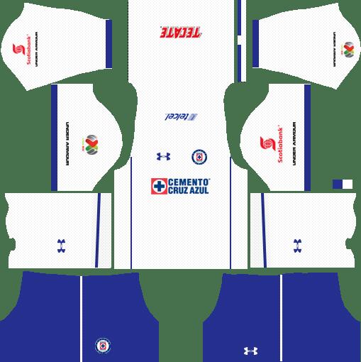 Cruz Azul Third Kits DLS 2018