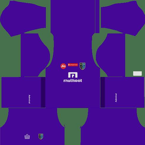 Kerala Blasters goalkeeper kits 2018