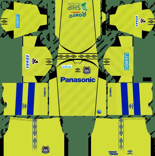 Gamba Osaka Goalkeeper Away Kits 2018