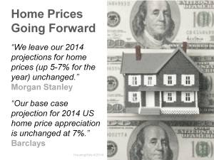 Homes Prices Moving Forward
