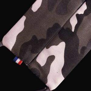 Masque en Coton – Imprimé Camouflage N&B