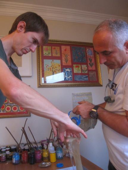 Preparing the materials