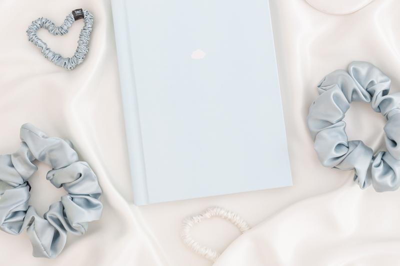 hodvabna gumicka maxi mint blue