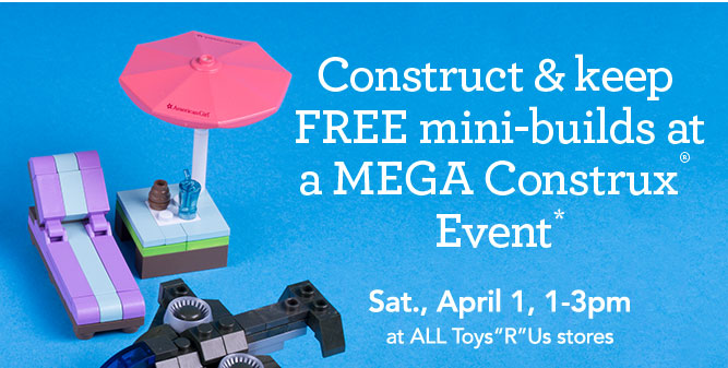 Construct & keep FREE mini-builds at a MEGA Construx Event