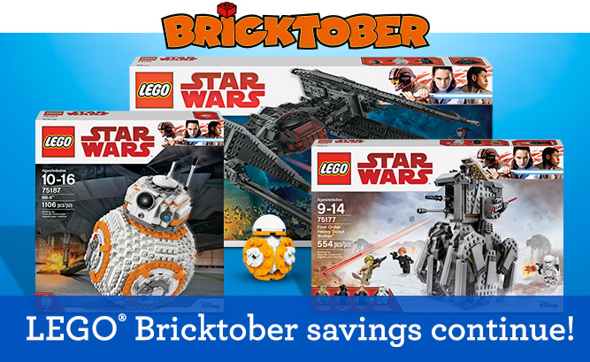 BRICKTOBER LEGO® Bricktober savings continue!