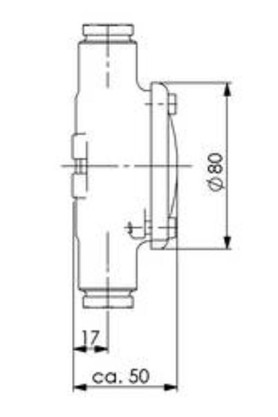 HNA Junction box, brass 1151-2xZ14