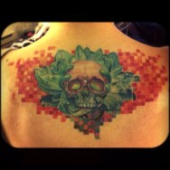 Svetlyo , Custom Skull tattoo ,