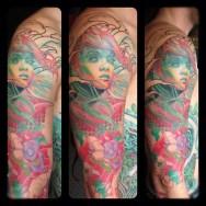 Svetlyo , Custom fantasy realistic in progress tattoo