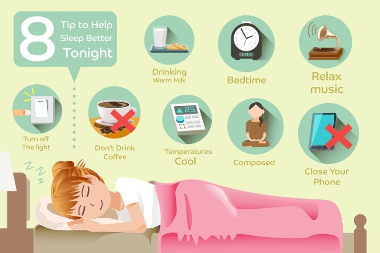 8 Tips to help Sleep Better Tonight