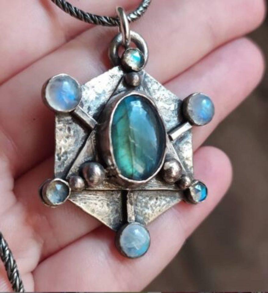 Labradorite Sacred Geometry Talisman
