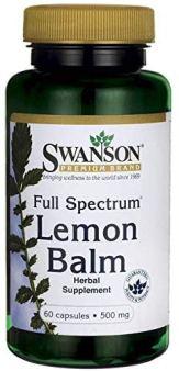 Swanson Full Spectrum Lemon Balm 500 Milligrams 60 Capsules