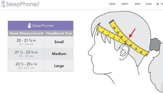 SleepPhones Headband Sizes