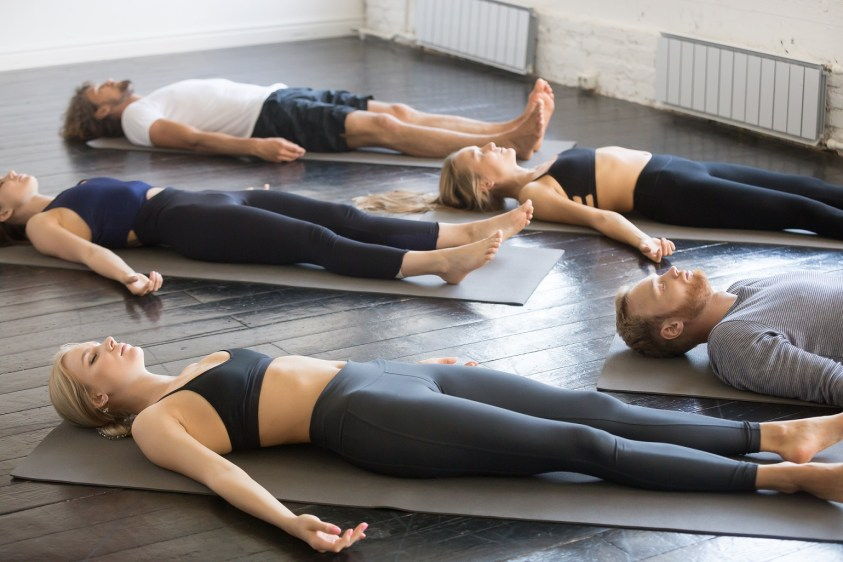 Shavasana posture - Yoga nidra