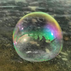 Our lil girl trapped in a bubble