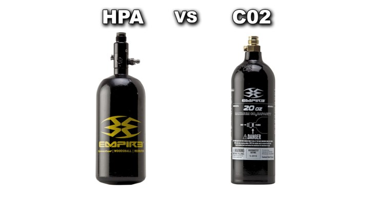 HPA vs. CO2 Paintball Tank