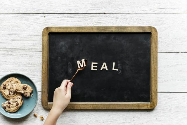 Chalk Board with Meal