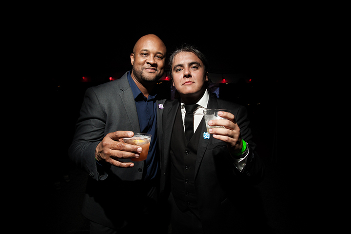 Peter and Garbiel Kurzlop with drinks