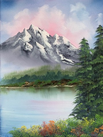 Mountain by the lake