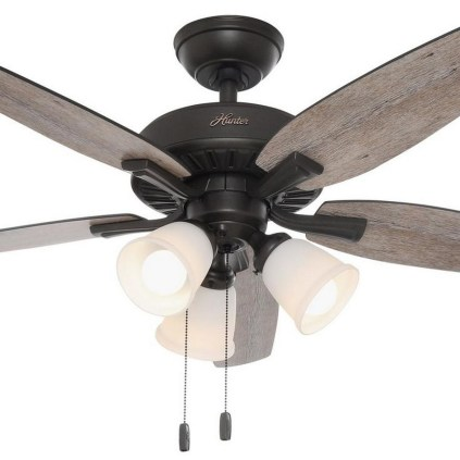39 blade standard ceiling fan with pull chain and light kit included joss & main 27