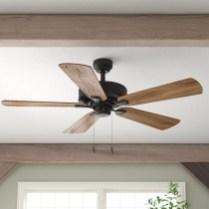 39 blade standard ceiling fan with pull chain and light kit included joss & main 30