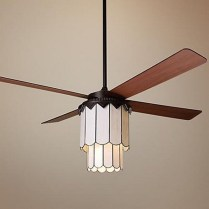 39 blade standard ceiling fan with pull chain and light kit included joss & main 7