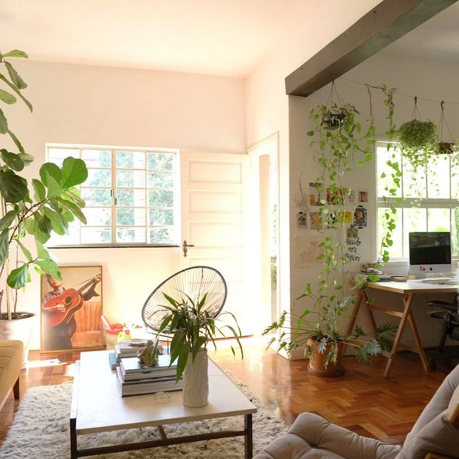 45 ideas to decorate your room with plants 17