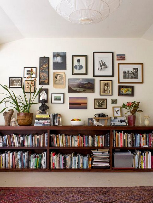 61 Stylish Ways To Display Bookshelves With A Lot Of Books Posh Pennies 16