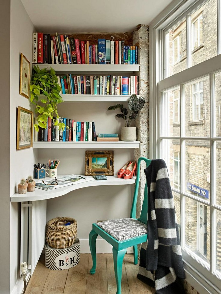 61 Stylish Ways To Display Bookshelves With A Lot Of Books Posh Pennies 35