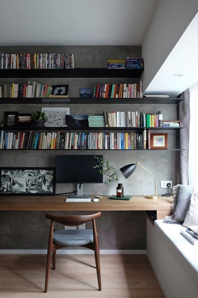 61 Stylish Ways To Display Bookshelves With A Lot Of Books Posh Pennies 36