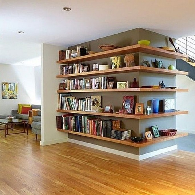 61 Stylish Ways To Display Bookshelves With A Lot Of Books Posh Pennies 40