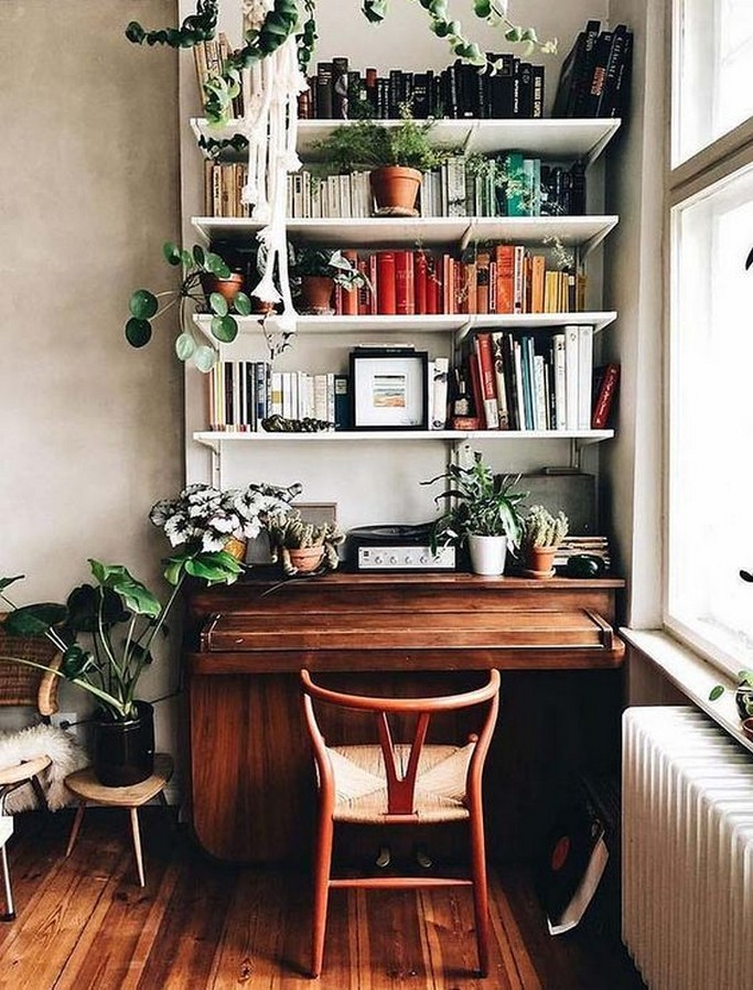 61 Stylish Ways To Display Bookshelves With A Lot Of Books Posh Pennies 42