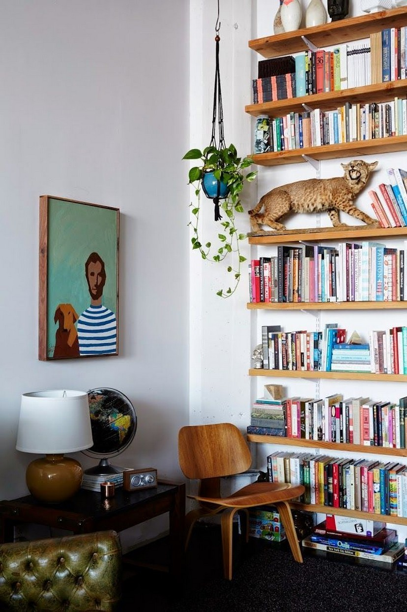 61 Stylish Ways To Display Bookshelves With A Lot Of Books Posh Pennies 45