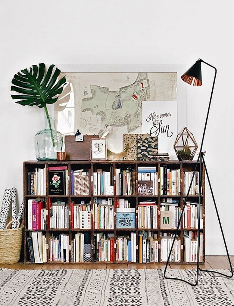 61 Stylish Ways To Display Bookshelves With A Lot Of Books Posh Pennies 53