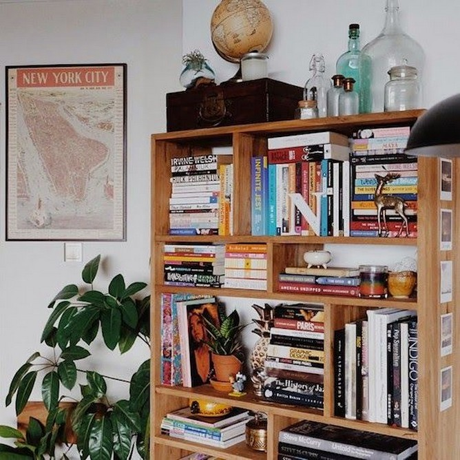 61 Stylish Ways To Display Bookshelves With A Lot Of Books Posh Pennies 56