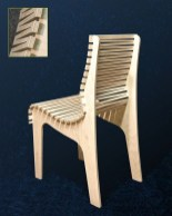39 Chair. Laser Cut Files SVG, DXF, 6