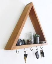63 malta round wood wall shelf 10