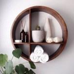 63 malta round wood wall shelf 24