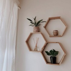 63 malta round wood wall shelf 50